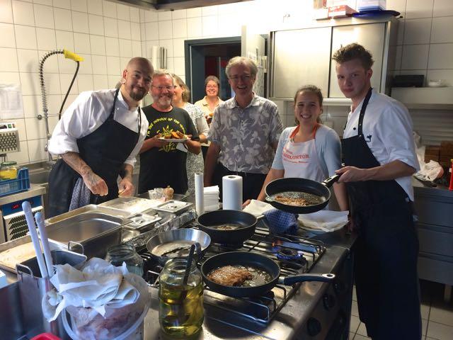 2014 Das Kochteam beim Sommerfest