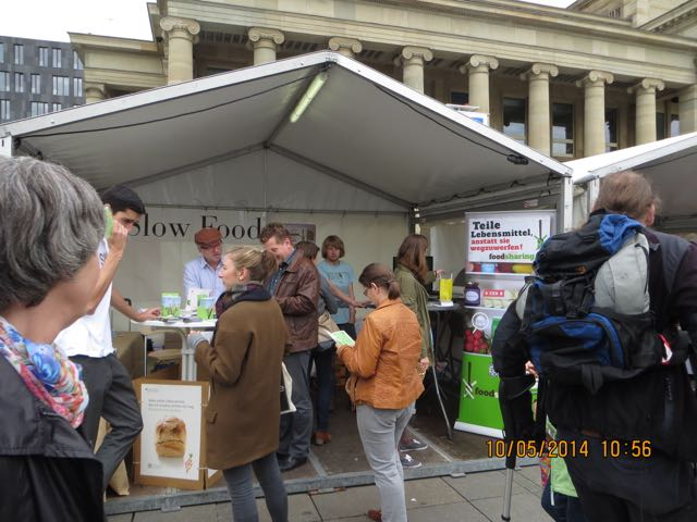 2014 Slow Food Stuttgart Stand auf dem Schlossplatz