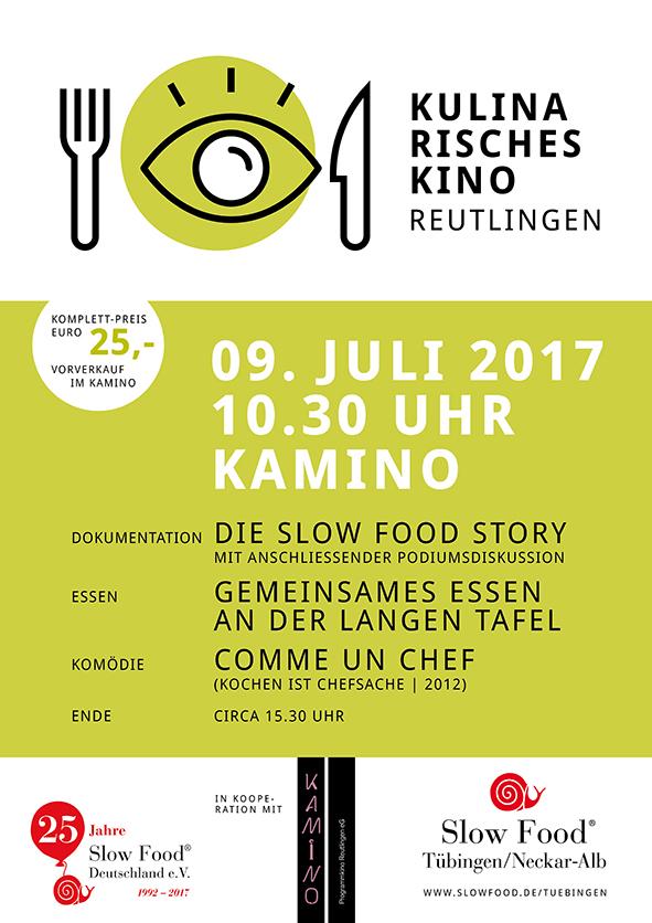 kulinarisches kino in reutlingen kommenden sonntag ab uhr slow food stuttgart. Black Bedroom Furniture Sets. Home Design Ideas