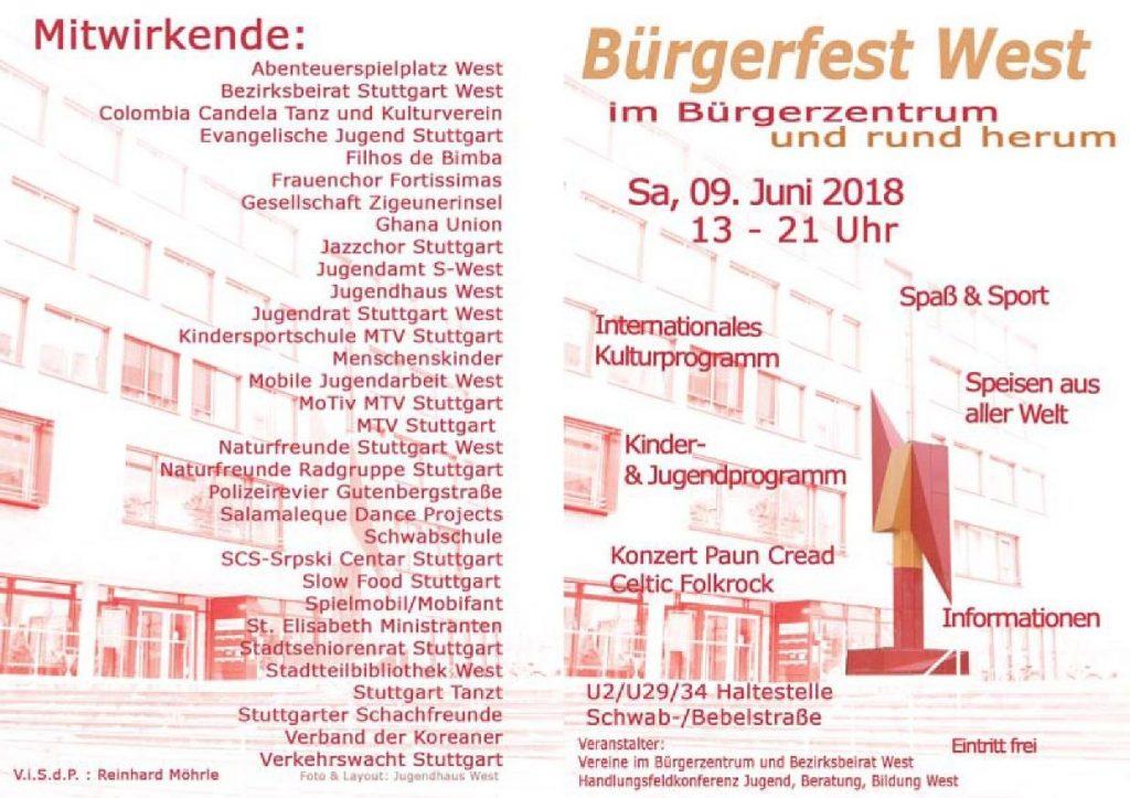 b rgerfest west am samstag 9 juni 2018 slow food stuttgart. Black Bedroom Furniture Sets. Home Design Ideas